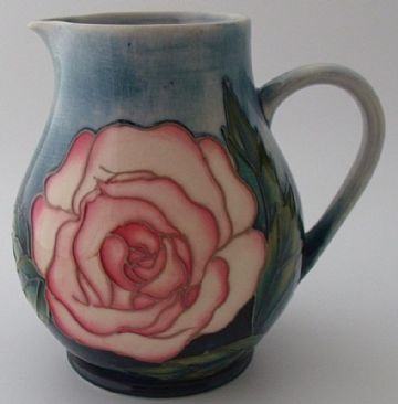 Moorcroft Pottery Collectors Club Rose Jug Designed By Sally Tuffin